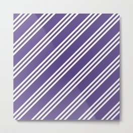Ultra Violet Large Small Small Stripes Metal Print