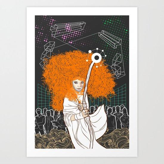 Biophilia Bjork Art Print