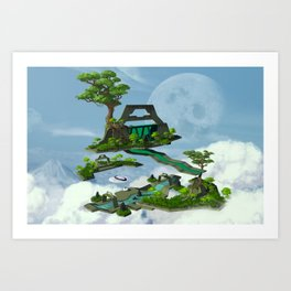 Sanctuary of Solitude Art Print