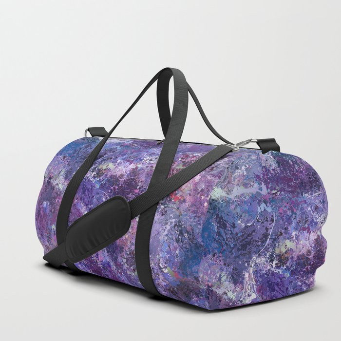 Violet drip abstraction Duffle Bag