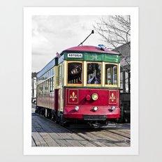 Trolley Streetcar Art Print
