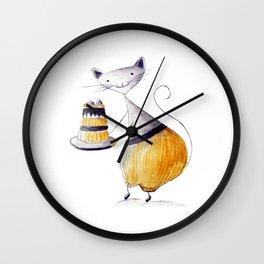Greedy Cat Wall Clock