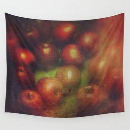 Once Upon a Time a Red Apple Wall Tapestry