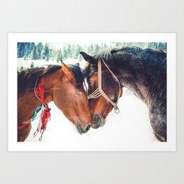 Horse Love Art Print