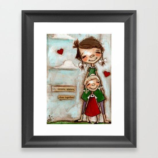 Close Together Framed Art Print