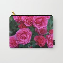 Pink Charm Roses Carry-All Pouch
