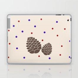 Pine cones and berries Laptop & iPad Skin