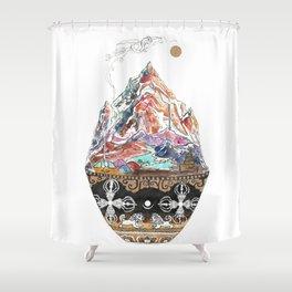 Base Camp - Himalayan Mountain Tent Village Shower Curtain