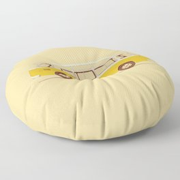 Yellow Van II Floor Pillow