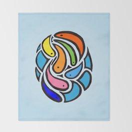 fish bowl Throw Blanket