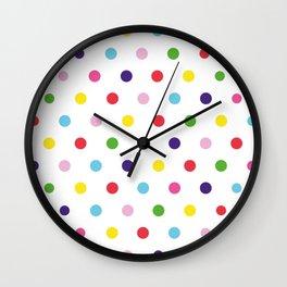 Polka dot colors Wall Clock