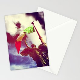 The angel and the flag Stationery Cards