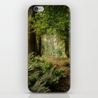 woodland iPhone & iPod Skins featuring Woodland by ZenaZero