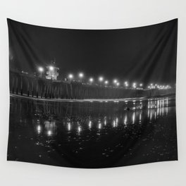 Black and White Reflections Wall Tapestry