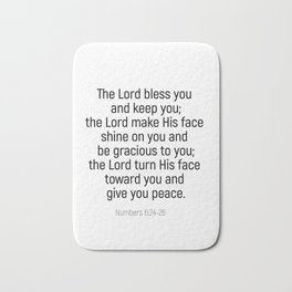 Numbers 6 24 #bibleverse #scriptures #blessing Bath Mat