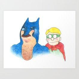 The dynamic duo Art Print