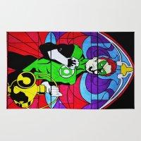religion Area & Throw Rugs featuring heroic religion by Flo Zero