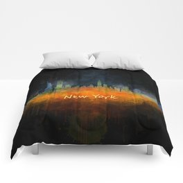 New York City Skyline Hq V04 Comforters