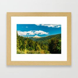 Carpathian Mountains Landscape, Summer Landscape, Transylvania Mountains, Forests Of Romania, Travel Framed Art Print