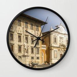 Piazza dei Cavalieri knights square Pisa Tuscany Italy Wall Clock