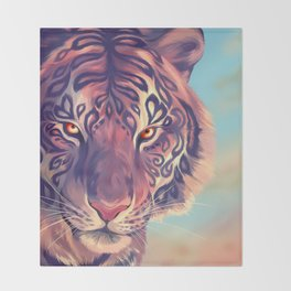 Tigress of My Soul Throw Blanket