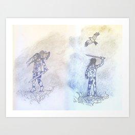 The Kite's Children (Diptych) Art Print