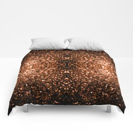 Beautiful Bronze Orange Brown glitters sparkles Comforters