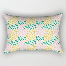 Field of lines in pastel Rectangular Pillow