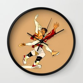 Damen & Laurent skating AU Wall Clock