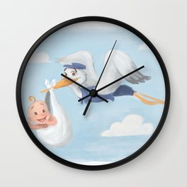 Delivery Stork Wall Clock