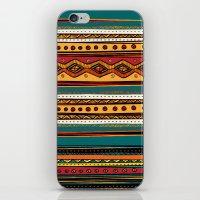 tribal iPhone & iPod Skins featuring Tribal by Klara Acel
