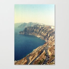 The insane roads of Santorini Canvas Print