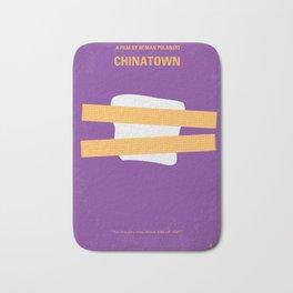 No015 My chinatown minimal movie poster Bath Mat