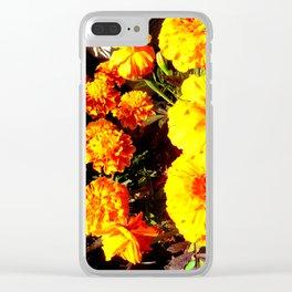 Orange Beauties Clear iPhone Case