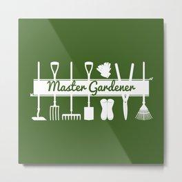 Modern Forest Green Master Gardeners  Metal Print
