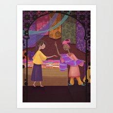 Silk Trade Art Print