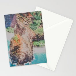 blue shores on napali Stationery Cards