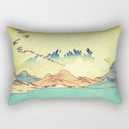 Upon Arrival at Dekijin Rectangular Pillow