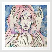 Gem Princess Opal Art Print
