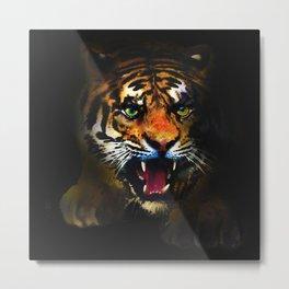 tiger in the dark Metal Print