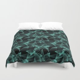 Abstract pattern.the effect of broken glass.Black background. Duvet Cover