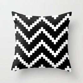 Tribal Chevron W&B Throw Pillow
