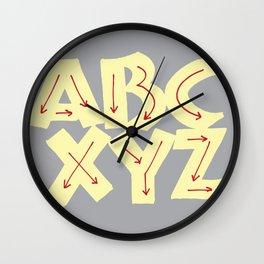 Neuland ABCXYZ Wall Clock