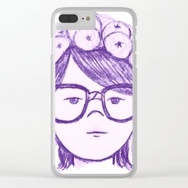 Kayla Bean Clear iPhone Case