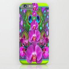 Fuchsia  Purple Orchids Chartreuse-pink  Pattern Art iPhone 6s Slim Case