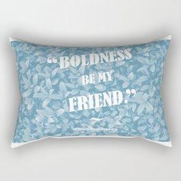 Boldness Be My Friend - Blue Rectangular Pillow