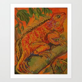 lumious lizard Art Print