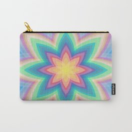 Rainbow Flower Carry-All Pouch