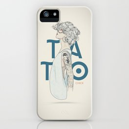 TATTOO CHICK iPhone Case