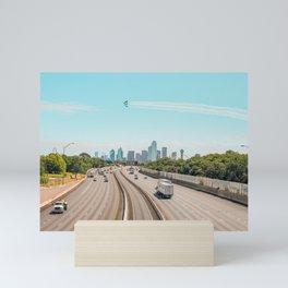 Landscape Blue Angels over Dallas Mini Art Print